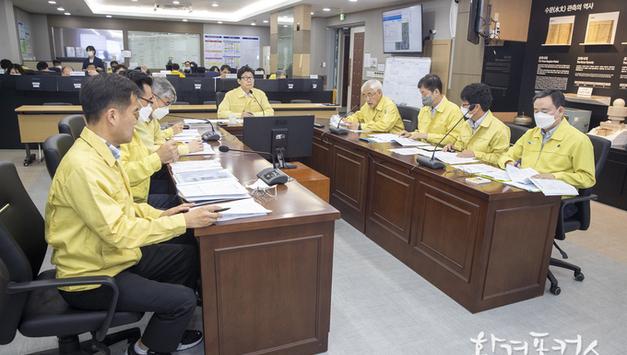 조명래 환경부 장관, 집중호우 대응상황 긴급 점검